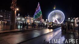 Place de Jaude et Tram à Noël