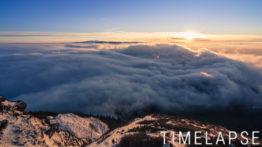 Mer de nuages au coucher de soleil - Puy de Dôme