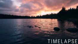 Coucher de soleil au lac de Servières - Auvergne