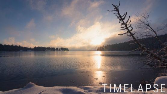 Lever de soleil au lac de Servières - Auvergne