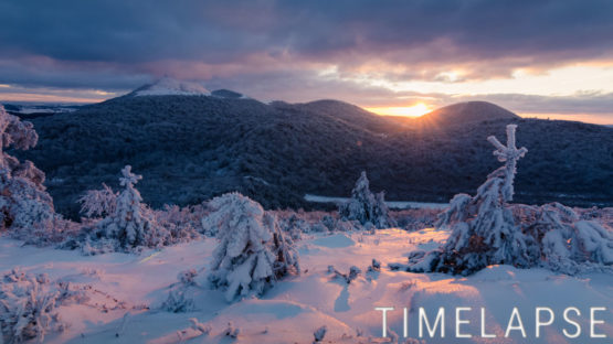 Coucher de soleil au Puy des Goules - Auvergne