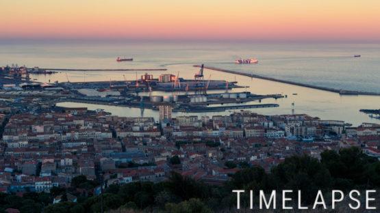 Coucher de soleil au port de Sète
